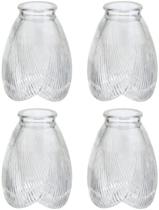 Aspen Creative 23003 4 Transitional Style Replacement Glass Shade 2 1 8 Fitter Size 5 high x product image