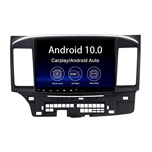 Dasaita 10.2' Android 10.0 Car Radio for Mitsubishi Lancer EVO 2007-2017 Bluetooth 5.0 Stereo GPS Navigation Multimedia Player 4G 64G PX6 DSP Wireless Carplay Android Auto 1280 x 720 HD