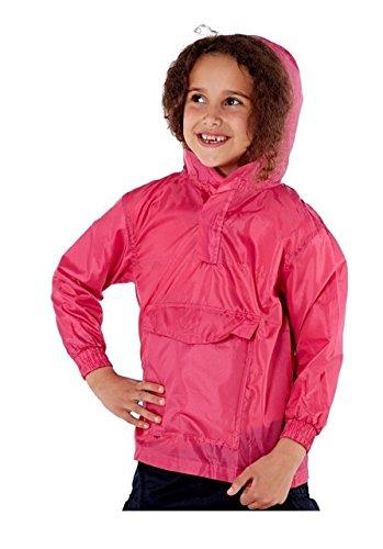 Pro Climate Kinder Jungen Mädchen Hell Regenjacke Mantel mit Kapuze Pac Auswärts Wasserabweisend Mac Sommer - Rosa, 110-116