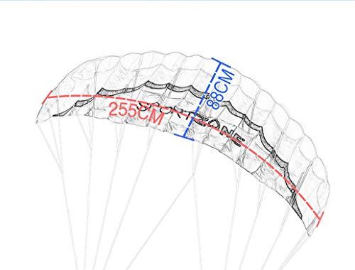 Kosei凧デュアルラインパラシュートスタントカイトハンドル30mライン付き(グリーン)