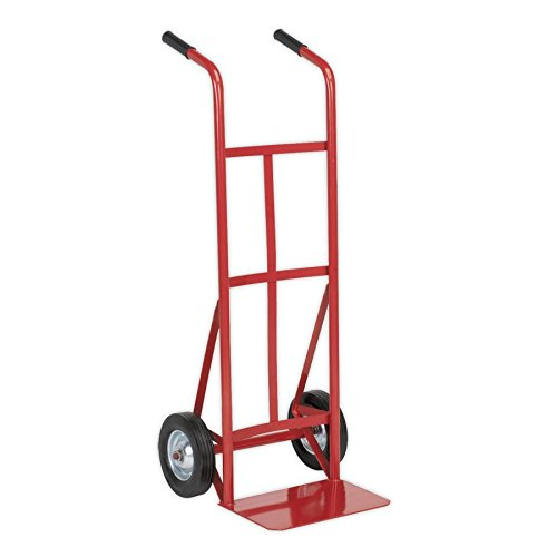 Sealey CST983 Sack Truck with Solid Tyres, 150kg Capacity, Red