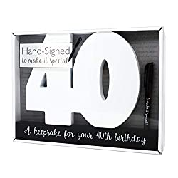 Birthday Signature Number for Keeping Memories They come with a pen so that party guests or family and friends can sign them! Ideal centrepiece for your party instead of the traditional guestbook Measures approx 29 cm x 22 cm x 2 cm Other milestone n...