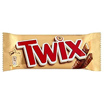 Twix Twin Chocolate Bars - 50g - Pack of 3  50g x 3 Bars