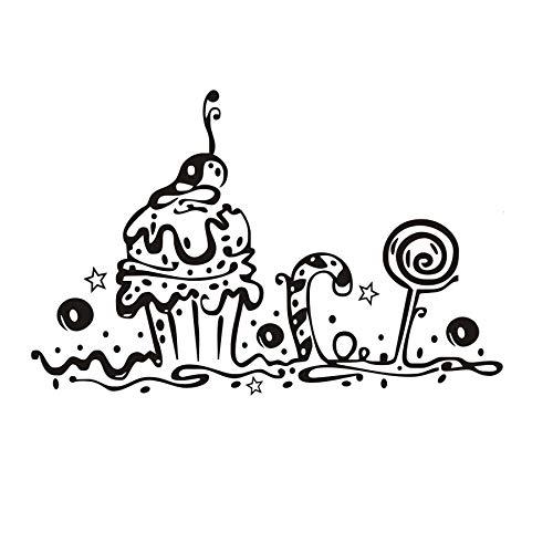 66x43cm, Adesivi visivi, Adesivi murali natalizi, Sulla torta dolce Panetteria Negozio Cafe Cucina Soggiorno Adesivo Opera astratta Adesivo da parete Vita