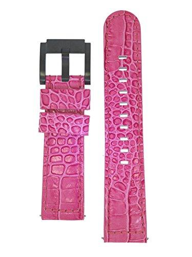 TW Steel Marc Coblen Armband Uhrenband Uhrenarmband Leder 22 MM Kroko Pink LB_P_K_B