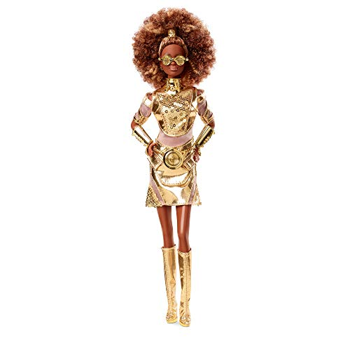 Barbie Collector Star Wars C-3PO x Barbie Doll (~12-inch) in Gold Fashion and Accessories, with Doll Stand and Certificate of Authenticity