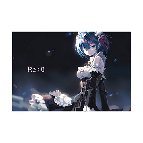 HQHQH Re: Life In A Different World from Zero Rem Holz Anime Puzzles Familie Dekompression Spielzeug Spiele Puzzle Raumdekor Geschenk (1000pcs)
