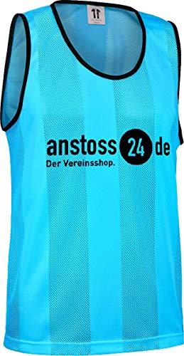ELF Sports Leibchen mit Druck 'anstoss24.de', Farbe:Türkis, Größe:XS