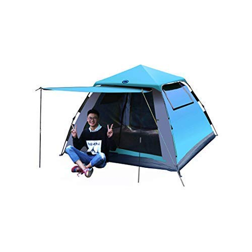 Totalmente automático Carpa camping al aire libre, 3-4 personas, automática abertura rápida hay necesidad de construir, a prueba de lluvia protector solar, Apto for picnics en la playa Park Lawn campo