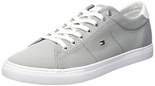 Tommy Hilfiger Herren Seasonal Textile Sneaker, Grau (Antique Silver PRT), 43 EU