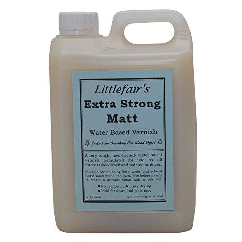 Vernis à base d'eau extra fort Littlefair (2.5ltr, mat)