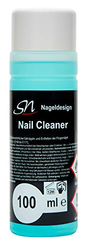 SN Nail Cleaner und Nagel Entfetter 100ml grün für Gelnägel und UV Nagellack Schwitzschicht Entferner Cleanser für Nägel