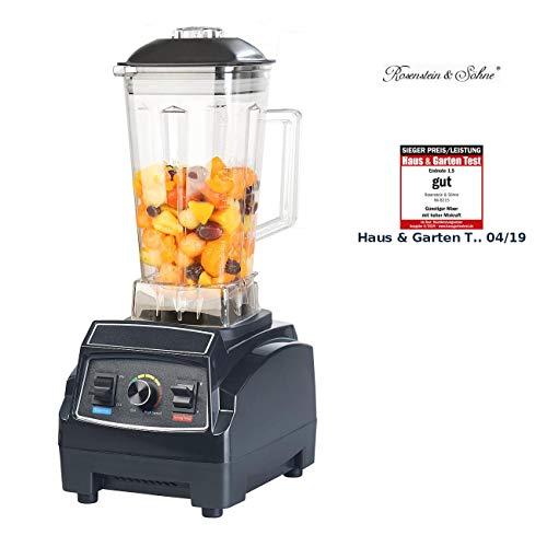 Rosenstein & Söhne Blender: Profi-Retro-Standmixer, 1.500 W, 2 l, BPA-frei, bis 28.000 U/Min. (Milchshake Mixer)