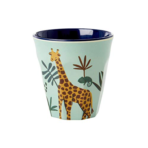 Rice Trinkbecher Kinderbecher aus 100% Melamin Jungle Animal Blue