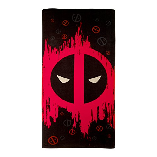 deadpool themed beach bath towel
