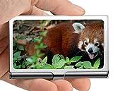 Titular de la tarjeta del nombre del negocio Cartera, sartenes Estuche para tarjetas de visita del titular de la tarjeta panda animal (acero inoxidable)