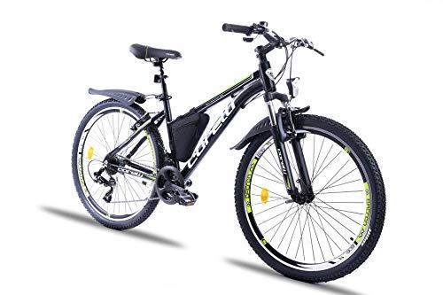 Corelli Twister Mountainbike 20 Zoll, 24 Zoll oder 26 Zoll mit Aluminium-Rahmen, V-Brake, Shimano 21 Gang-Schaltung, Gabelfederung, als Damen-Fahrrad, Mädchen-Fahrrad, Kinder-Fahrrad. (Kiwi, 26.0)