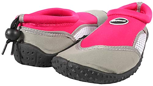 Ultrapower Aqua Schuhe Kinder | geschlossene Aquaschuhe I Wasserschuhe Neopren | Badeschuhe für Mädchen I Baden Schuhe rutschfest I Schwimmbadschuhe I Water Shoes I AS3,Fuchsia,Gr. 32
