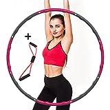 EOSVAP Hula Hoop - Aro de gimnasia para adultos (ajustable, para pérdida de peso, extraíble, para adultos y niños)