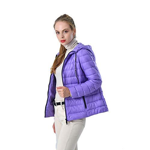 Dames Korte Designer Parker Hooded Down Jacket Gewatteerde Jas Zip Zakken Meisje Herfst Winter Lichtgewicht Waterdicht Groot Maat M-2XLZeer Mooi Gift