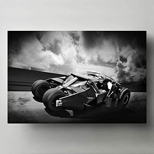 La peinture Batman Super voiture super-héros modulaire toile HD imprime des photos mur Art peinture décor à la maison affiches pour salon pas de cadre 50x70cm