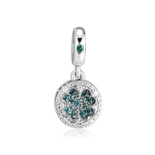 Fit Original Pandora Bracelets Diy 925 Sterling Silver Beads Dazzling Lucky Four Leaf Clover Charms Bracelet Charm Jewelry Making Bijoux Kralen