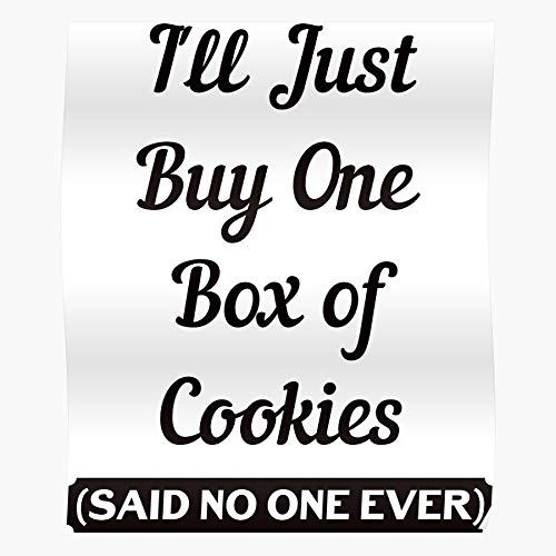 Girl Christmas Movies Cookies Funny Xmas Scout Humor Joke I Fsgredsting-Trendy Poster for Wall Art Home Decor Room !