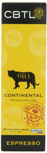CBTL Continental Espresso Capsules By The Coffee Bean & Tea Leaf, 10-Count Box