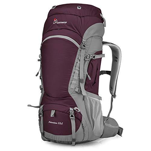 MOUNTAINTOP 55Liter Backpack Wandelrugzakken Unisex Travel Rugzak Inclusief regenhoes