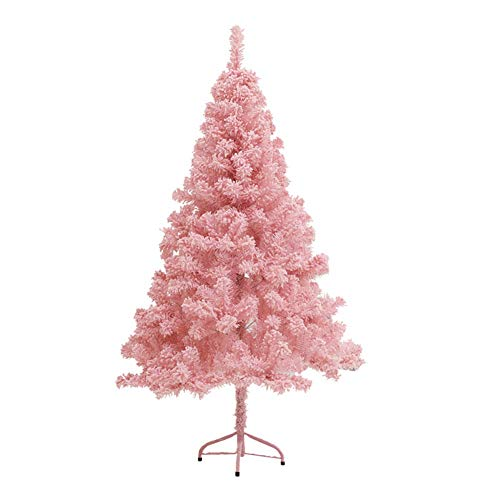 Barm Artificial Christmas Tree with Metal Stand, Detachable Pink Christmas Tree Reusable Easy to Assemble Home Office Holiday Decor-h 300cm / 12ft