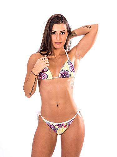 Fishirt Triangle Bikini Woman Sea Zweiteiler Aloha Größe L Gelb