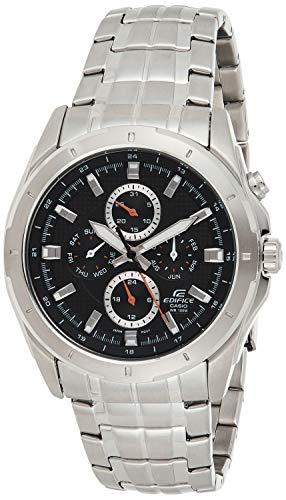Casio EDIFICE Reloj en caja sólida, 10 BAR, Negro, para Hombre, con Correa de Acero inoxidable, EF-328D-1AVEF