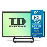 TD Systems K24DLX10H - Televisores 24 Pulgadas HD, HDMI, VGA USB Grabador Reproductor, DVB-T2/C/S2 Modo Hotel....
