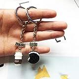 GOJISYAL Schlüsselbund 2 Stück Set Mini Kekse Und Kaffee Anhänger Schlüsselbund Beste Freunde Und Kinder Geschenk Freundlicher Schlüsselring