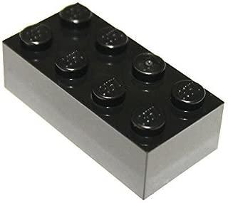 LEGO Parts and Pieces: Black 2x4 Brick x50