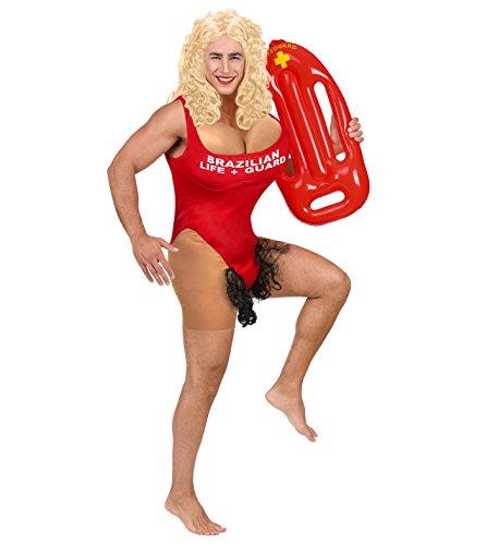 Rettungsschwimmer Junggesellenabschied roter Badeanzug + Rettungsboje (M/L)