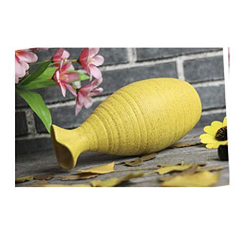 TTZY Floreros de ceramica Decoracion Moderna para el hogar Florero Hecho a Mano para la Mesa de Comedor Oficina Boda Accesorios de Sala Florero de ceramica Relleno, Caqui Oscuro