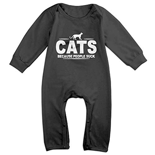 SDGSS Combinaison Bébé Bodysuits Cats Because People Suck Newborn Baby Rompers for 6-24m Baby