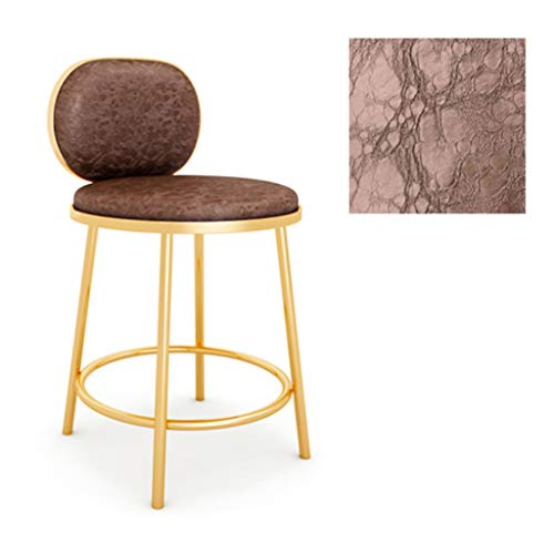 YF-Barstool Barhocker mit Rückenlehne Pub Home Leisure Counter Chair Gepolsterte Metallbeine Max. Zuladung 150 kg (Novel Style)