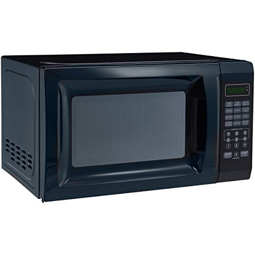 700W Kitchen timer/clock Output Microwave Oven 0.7 cu ft, Black
