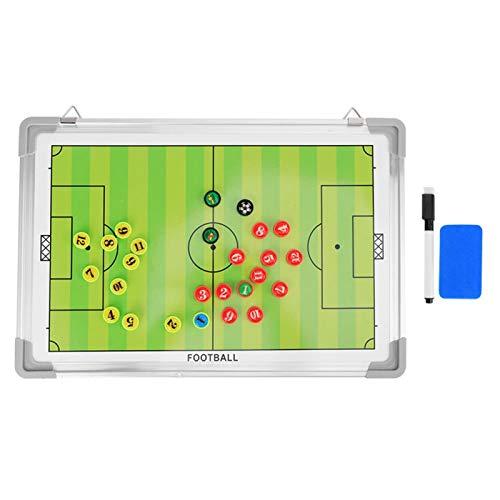 Pwshymi Tablero de tácticas de fútbol magnético Resistente a la decoloración Tablero de tácticas de fútbol de Doble Cara para la Familia para el Gimnasio
