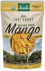 Organic Dried Mango Just About Foods 1 Pound