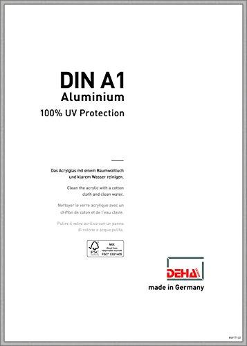 DEHA Boston - Marco de fotos de aluminio, aluminio, plateado mate, 59,4 x 84,1 cm (A1)