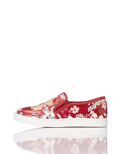 RED WAGON Mädchen Sneaker Slipper, Mehrfarbig (Red Floral), 23 EU
