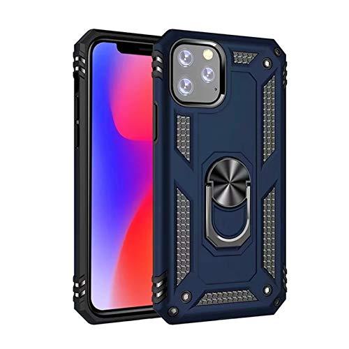KAZOKUYiZi For el iPhone 11 12 12 Pro MAX Mini 5 5S SE 2020 6 7 8 Caja del teléfono de Magentic Anillo Armadura 6S más la Caja de Lujo for el iPhone X XR XS MAX (Color : Navy, Size : 7)