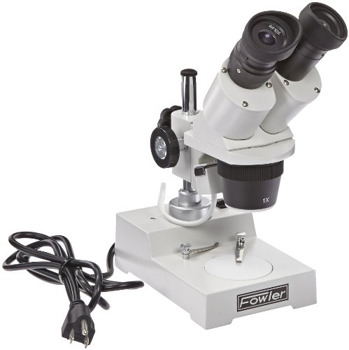 Fowler 53-640-320 Stereo Microscope, 10X Magnification, 1X and 3X Objectives