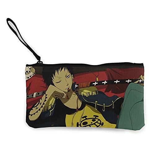 Monederos de lona de una sola pieza se pueden utilizar como estuche de viaje cosmético para lápices de viaje con cremallera bolsa de efectivo para estudiantes hombres y mujeres