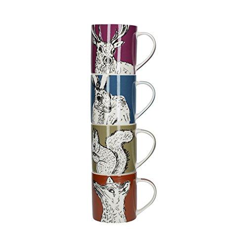 Creative Tops 5234131 Into The Wild Lot de 4 mugs empilables, Multicolore