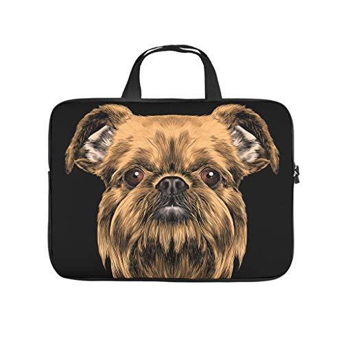 Dog Animal Laptop Tote Bag Lightweight Water-Repellent Briefcases for Computer Notebook White 13 Zoll