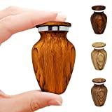 Small Keepsake Cremation Urn For Human Ashes With Wood Grain Finish Choose From 4 Unique Woodgrains Mini Metal Sharing Personal Funeral Urn for Pet or Human Ashes (South American Rosewood)